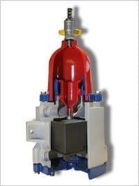 Schnittmodel eines Kraftstofffilters für LKW-Motoren