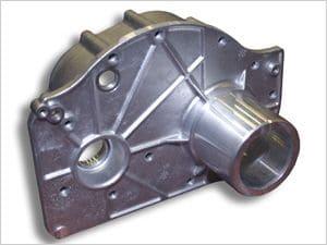 Getriebeplatte für hochbeanspruchte Krangetriebe